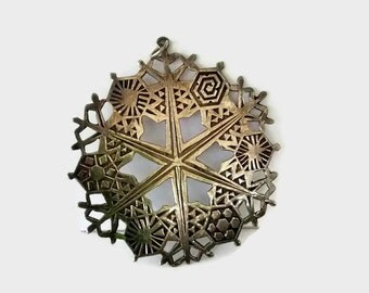 MMA Silver Snowflake 1974, Metropolitan Museum of Art, Collectible Ornament