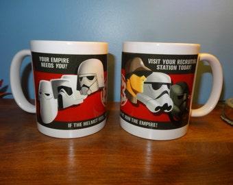 Star Wars Imperial Propaganda WWII Rebels stormtrooper 11 ounce coffee or tea mug