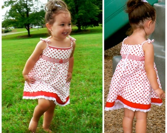 Summer Dress with flutter Straps PDF Sewing Pattern - The Natalie