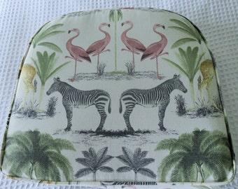 Zoo Animal Print   Box Cushion  17 x 17 inch
