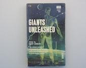 Giants Unleashed paperback science fiction book / Asimov / Leinster / Sturgeon / retro Sci-fi /  Retro book / Space