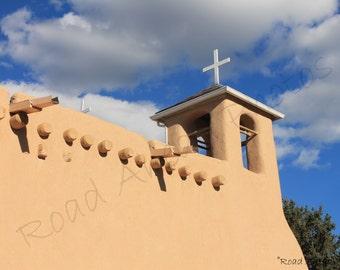 8 x 10 matted photo San Francisco De Asis Church, Taos New Mexico