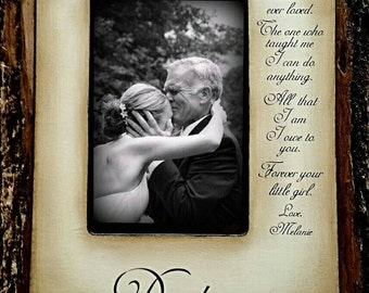 Wedding Picture Frame Father Daughter Wedding Frame Bride Walk down the aisle Keepsake Personalize Custom Picture Frame Father's day 4x6 5x7