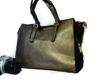Metallic Silver Camera Bag    Camera Bag  Ipad and Camera Bag