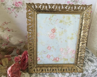 Vintage Ormolu Picture Frame - Gold - Easel stand or can Hang