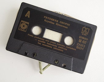 Zippered Cassette Tape Wallet - Fryderyk Chopin