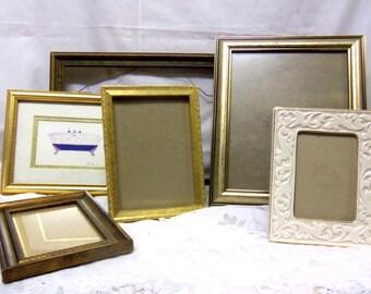 Bundle of Six Goldtone Vintage Frames