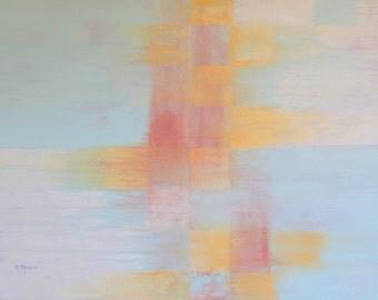 Blocks. Original Acrylic on Canvas, 40 x 30.