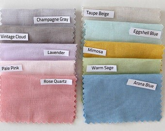 Organic Solid Cotton Fabric, Lavender, Rose, Gray, Blue, Sage, Beige, Pink and more - By the Yard 92704