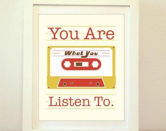 Cassette, Cassette Print, Cassette Poster, Cassette Art, Cassette Artwork, Cassette Wall Art, Music Print, Music Artwork, Music Room, Music
