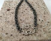 Men's Bracelet, Autism Awareness Puzzle Jewelry