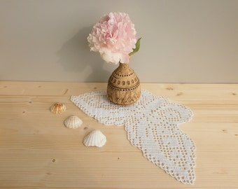 Filet crochet white Butterfly Doily, handmade cotton tablecloth, coffee table desk decoration butterfly crochet ornament Living Room Decor