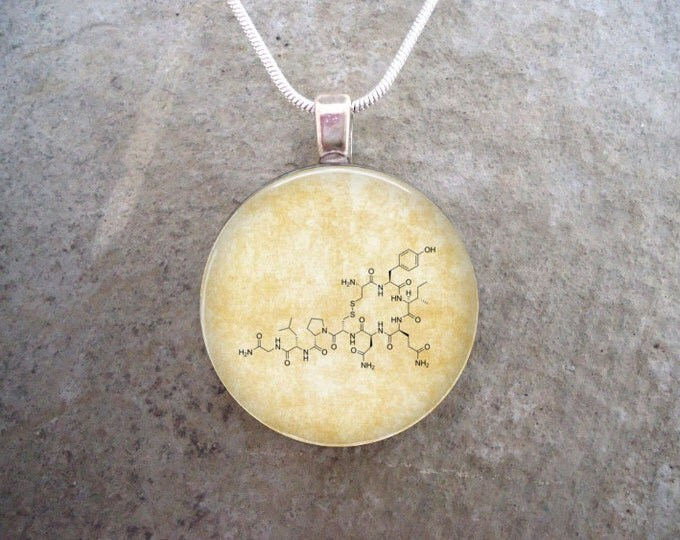 Oxytocin Jewelry - Glass Pendant Necklace - Chemistry - Science Jewellery