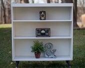 White Mid Century Bookcase