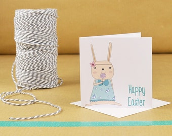 Happy Easter Card, Easter Card, Mini Card, Easter Rabbit Card, Cards for Easter, Happy Easter, Easter Bunny Card, Easter Bunny