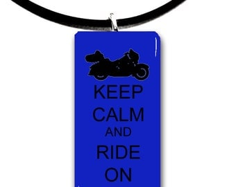 cruising, cruiser, Keep Calm and Ride on, Motorcycle riding, glass tile pendant, biker chick, motor, biker, ride,rider,