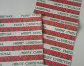 Two sheets of vintage Christmas wrapping paper, Merry Christmas, 1980's