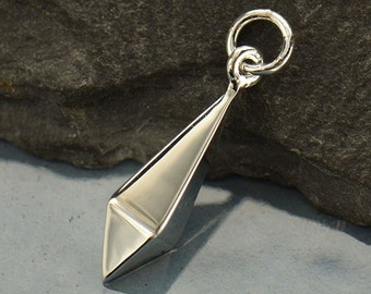 Sterling Silver Large Inverted Spike Dangle