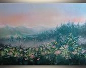 "Oil Painting Landscape painting ORIGINAL art Painting Oil Original Painting Palette Knife Fine Art Turquoise Forest 30""x40"" by Tatjana Ruzin"