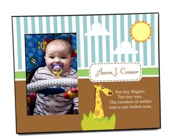 Customized Giraffe Photo Frame for Baby