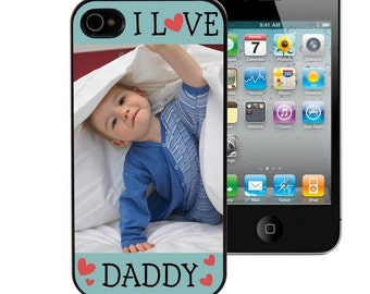 Customized Photo I Love Daddy iPhone Case