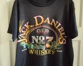 Vintage 90s JACK DANIELS 50/50 T Shirt sz M/L