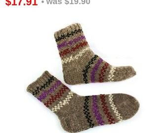 10%SALE Unisex Wool Socks. Organic Winter Wool Socks. M men and M women socks size.