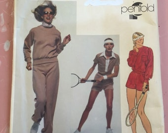 Vintage 1980's Vogue American Designer penfold Athletic Wear Sewing Pattern 1636 factory folded and uncut. Size 12.