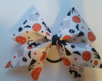 Halloween spandex cheer bow