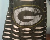 Green Bay Packers Upcycled/Recycled Tshirt Cross Body Bag