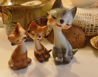 Sweet face cats  three from the 1950's A MUST HAVE