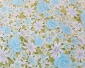 Vintage Floral Sheet Springmaid Marvelaire Double Flat