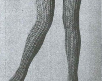 1970 Knit Lace Stockings Pattern pdf
