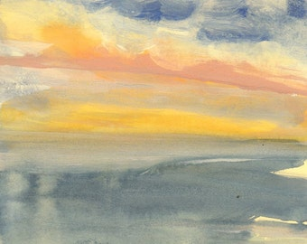 Pacific Color Study #1 - Original Acrylic Painting