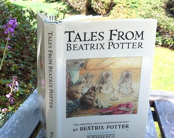 The complete Tales of Beatrix Potter, Vintage children's hardcover book with four original childrens stories, new colour reproductions