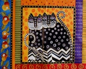 """Large Fantasy Cat 7"""" Iron On Patch Applique"""