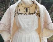 1920's Style Cream Cape, Bohemian Kimono Jacket, Winter Evening Wear, Downton Abbey Cape, Couture Cover, Bride To Be, Gatsby wedding cloak