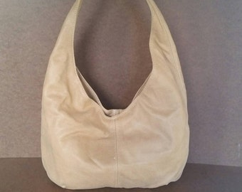 Camel Suede Leather Purse - Soft Hobo Bag - Casual Slouchy Handbag - Handmade Purses alice