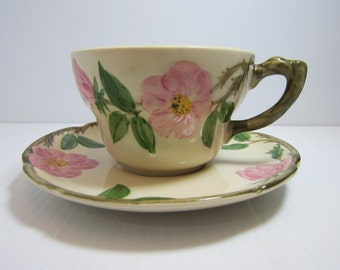 DESERT ROSE  Cup & Saucer Set - Oversized, Extra Large Cup and Saucer - Franciscan