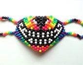 Neon Wolf Kandi Mask