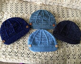Girls/Womens Brimmed Beanie Hat
