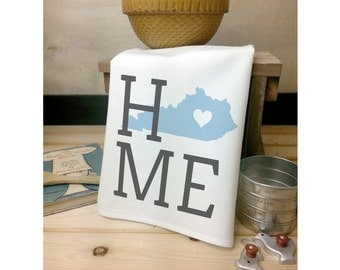 Kentucky State Flour Sack Towel, Kentucky State Tea Towel, Flour Sack Tea Towel, House Warming Gift, Wedding Gift, Kitchen Decor, State Art