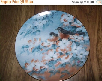 50% OFF Bird collectors Plate, Robins in Dogwood, Franklin Mint Heirloom Recommendation series