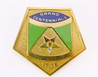 1976 Centennial Eastern Star Gold Filled Enamel Pin