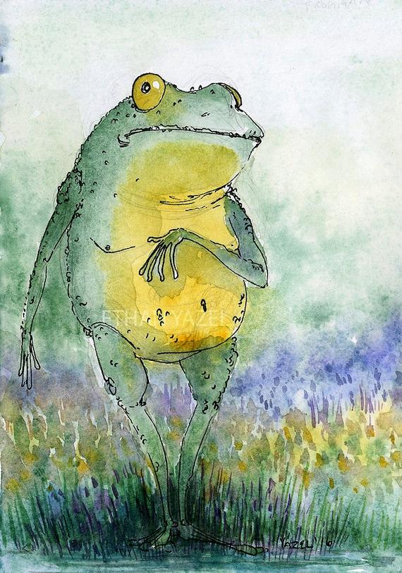 items similar to loveland frog cryptid series print of my original illustration on etsy