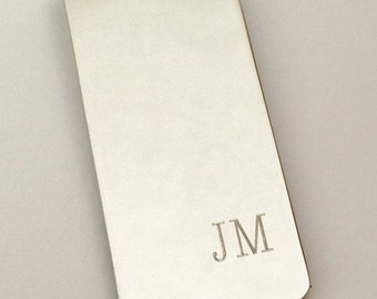 Money Clip Personalized, Money Clip Silver, Anniversary Gifts for Boyfriend, Anniversary Gifts for Husband, Father in Law Gift
