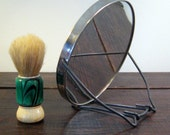 Vintage Traveling Magnified Shaving/ Makeup Mirror with Folding Stand