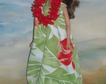 Barbie Hawaiian  Print Muumuu and Accessories Choice of 3 Styles