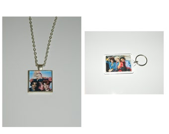 the thompson twins Glass Pendant Necklace and/ or Keychain