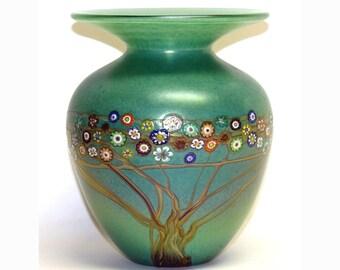 Jade Green Vines Vase